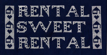 Rental Sweet Rental cross stitch